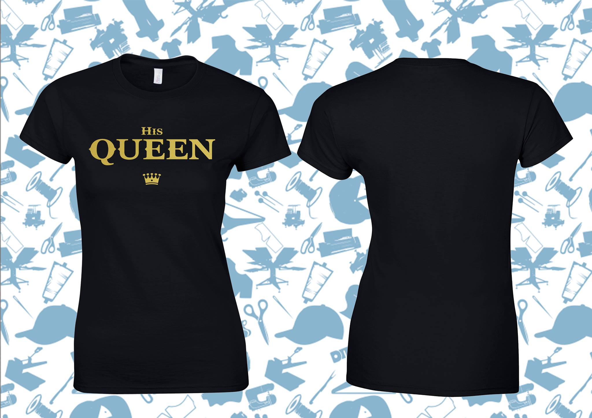 6fb963c585 The King & His Queen couples t-shirt-Creals