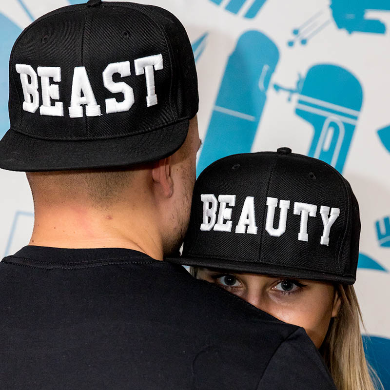 Basic páros snapback /KingQueen vagy BeautyBeast/