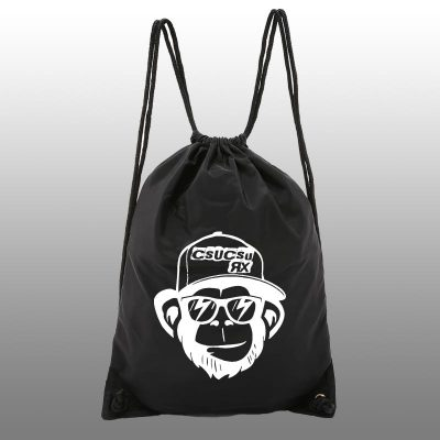 Monkey Black Cotton Gymbag