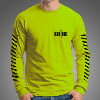 STRIPES Longsleeve Tee /safety green